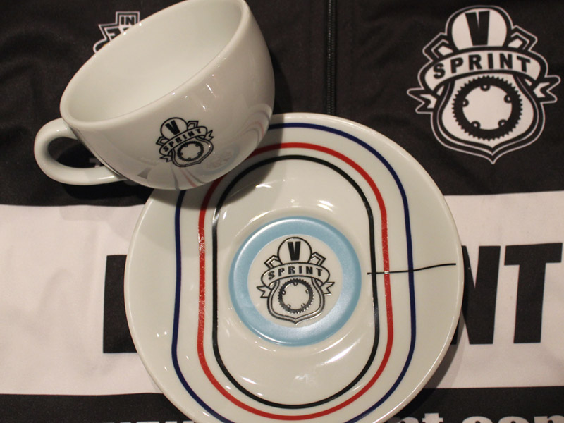 velodrome cappuccino coffee set